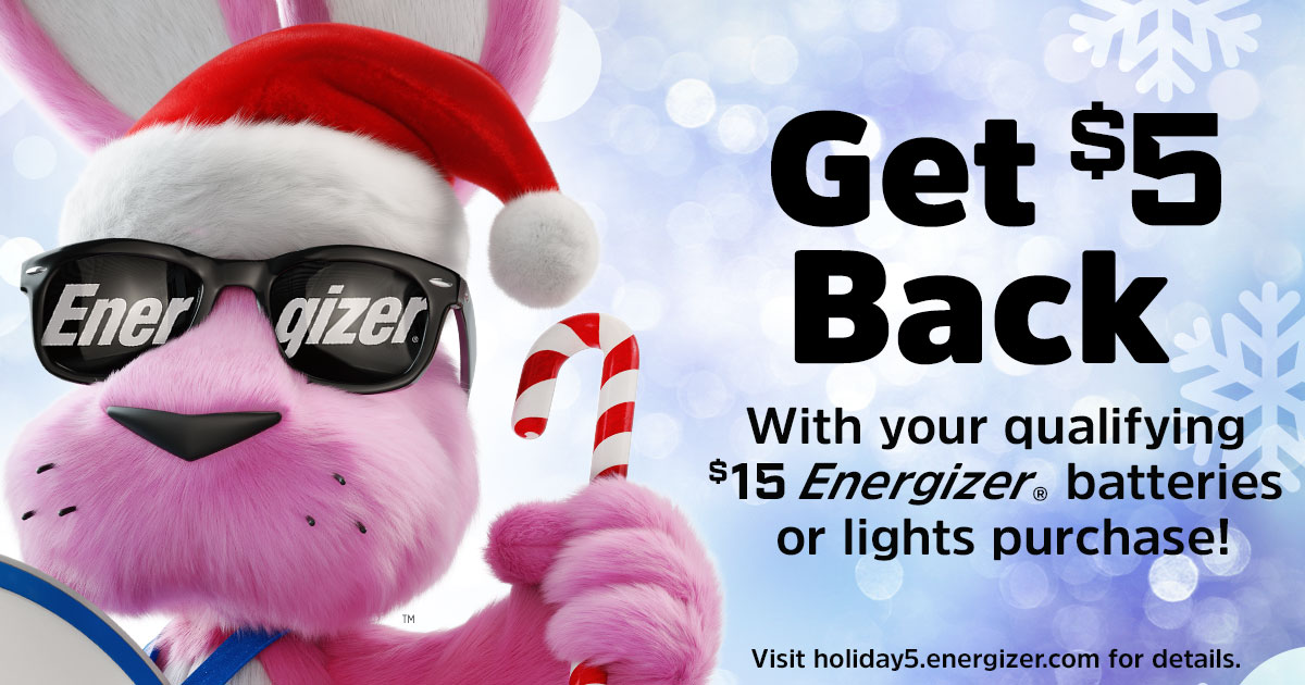 Brighten up your holiday season with the Energizer® Holiday Offer!