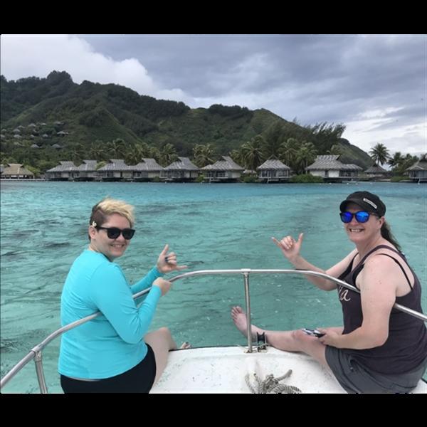 chilling in Tahiti