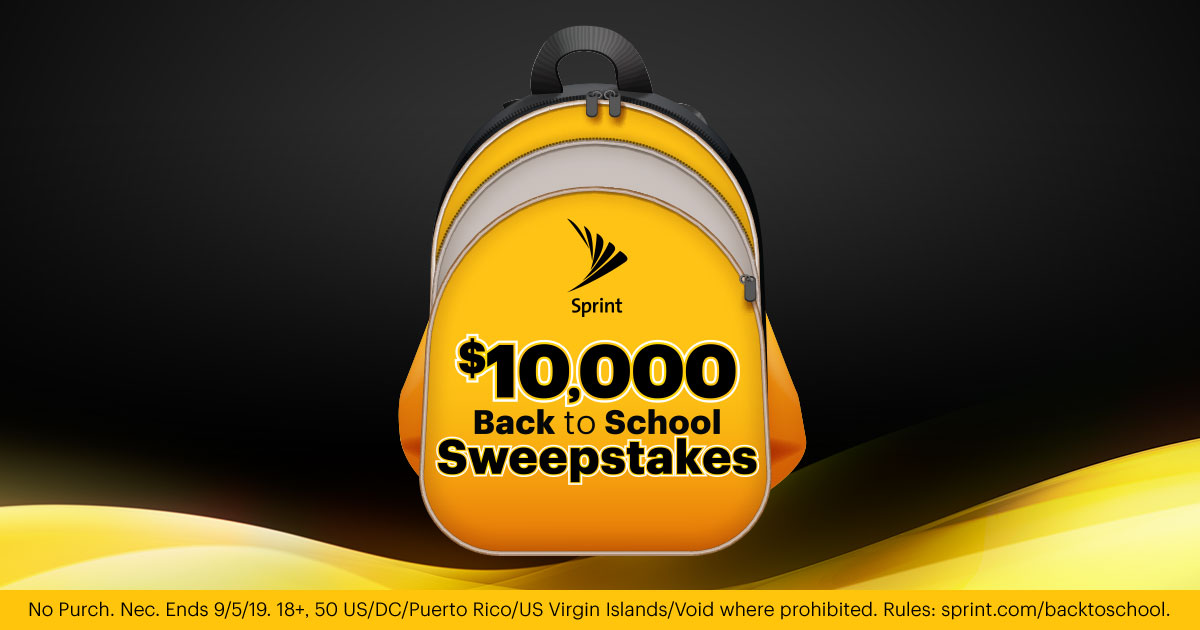 Sprint $10,000 Back to School Sweepstakes - Promotion not active