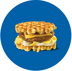 White Castle Breakfast Waffle Slider with Sausage