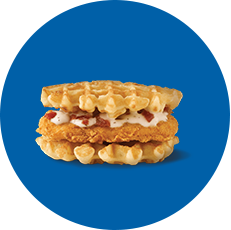 White Castle Chicken and Waffles with Bacon Bites