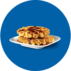 White Castle Two waffles with syrup