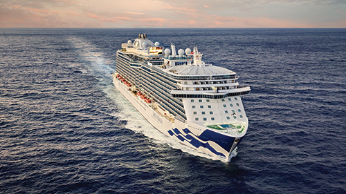 Princess Cruises sailing on the ocean